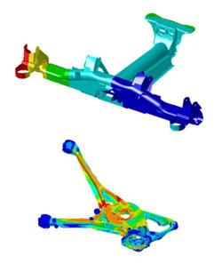 Оценка прочности и усталости деталей автомобиля